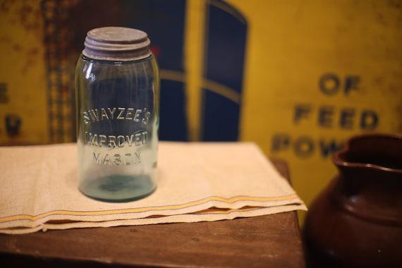 Swayzee's Improved Mason Cornflower Blue Jar