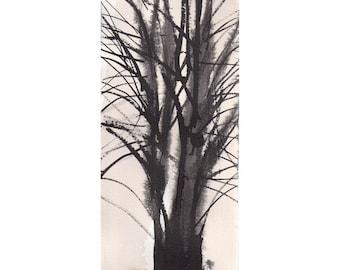 Grid Series No.1 bare trees 9 of 9, original watercolor