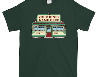 Personalized Custom Diner T-Shirt -- Image #1 -- Men's