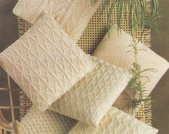 PDF aran cushion cushions vintage knitting pattern pdf INSTANT download pattern only pdf