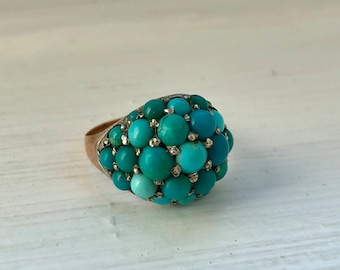 Victorian Turquoise Cabochon Bombe Ring