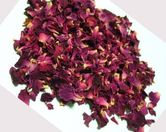 2lb Dried Rose Petals - Wedding Toss Flowers - Organic Dried Rose Petals