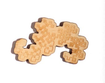 Dragon Curve Fractal Pin