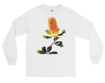 Australian Floral Shirt - Long Sleeve T-Shirt - Beautiful Banksia Flower