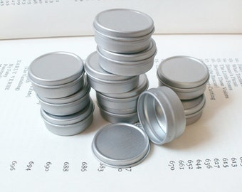 Small Metal Tins, 10ml Small Storage Box, Small Organizer, Blank Round (Set Of 6) Silver Color