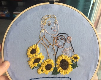 Jane Goodall Embroidered Hoop