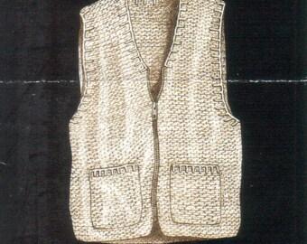 Double Strand Vest Digital Download Crochet Pattern
