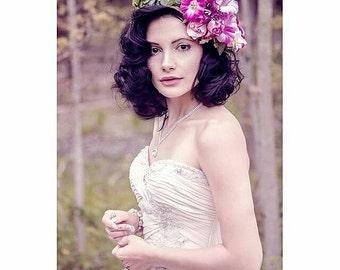 Vintage Inspired Floral Crown 50% OFF