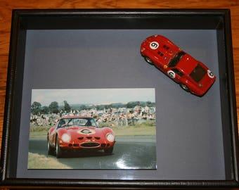 framed Ferrari 250 GTO model