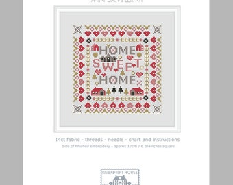 CROSS STITCH KIT Mini Home Sweet Home by Riverdrift House
