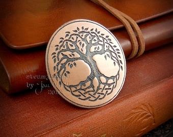 Copper Tree Of Life Brooch, tree brooch, tree jewellery, copper jewellery, copper brooch, spring brooch, spring jewellery, mothers day gift