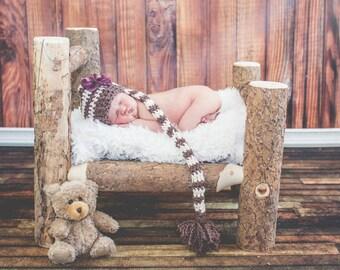 Organic cotton baby stocking hat
