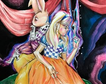 Alice in Wonderland Fan Art Print