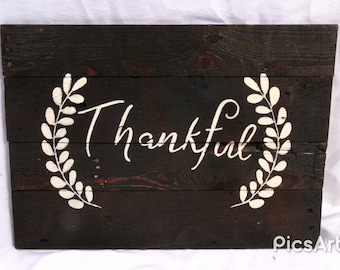 Thankful Rustic Pallet Sign