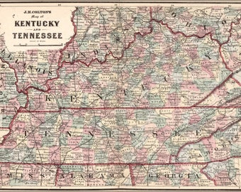 Poster, Many Sizes Available; Map Of Kentucky And Tennessee 1863