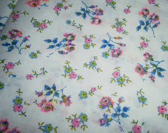 Vintage Cotton Fabric by the Half Yard