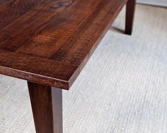 Tapered Leg Dining Table Reclaimed Wood Custom Furniture Farmhouse Table Farm Table Barnwood Table Reclaimed Dining Table Brand Mojo