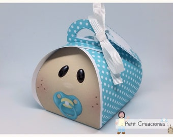 "PRINTABLE Curvy keepsake gift BOX ""Baby boy"" DIY, treat box, place holder, gift idea for baby shower"