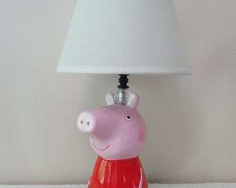 Squirrel lampshade etsy peppa pig lamp light lampshade george dr brown night light mummy pig daddy pig grampy pig miss rabbit grandpa pig mrelephant peppa lamp aloadofball Choice Image