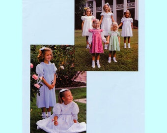 Smocked Dress Pattern / Square Yoke / Large Size / Short, Long or Angel Sleeves /  Smocked Bodice / Chery Williams. Smocked or Plain