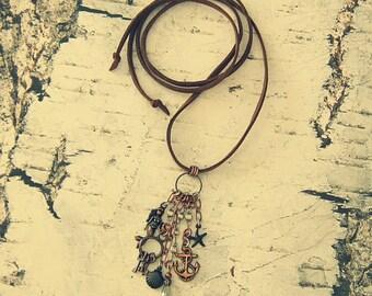 Boho Mermaid Necklace, Boho Mermaid Jewelry, Boho Nautical Necklace, Boho Nautical Jewelry, Lost Treasures Line, Salvina's Treasures