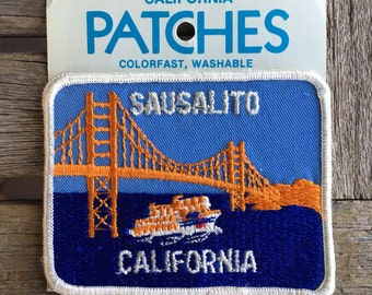 Sausalito California Vintage Souvenir Travel Patch from Holm Patches