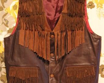 Montana Leather Suede Fringe Vest