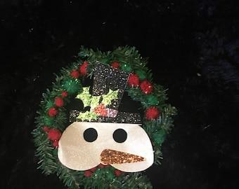 Snowman Christmas wreath small/ medium