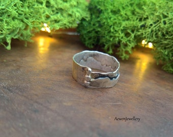 Mountain ring. Mountain jewellery. Silver ring. Woodland jewellery. Nature jewellery. Rustic ring. Rustic jewellery. Nature lovers