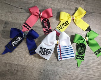 Days of the weeks bows