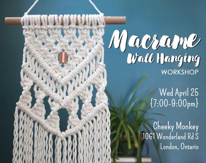 April 25: Macrame Wall Hanging Workshop