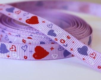 pretty Purple Ribbon purple and red heart