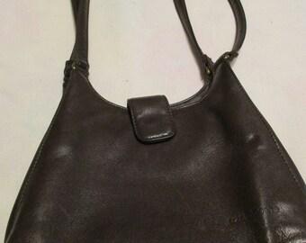 Liz Claiborne Brown Leather Shoulder Bag Tote Purse
