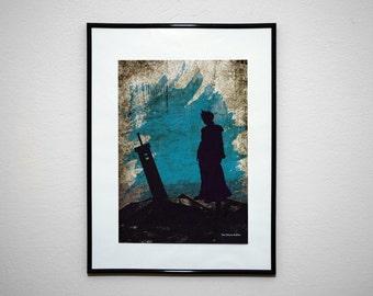 FF7 - The Shinra Soldier. VideoGrunge Wall Art Print Poster.