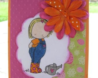 Sweet Garden Girl Card