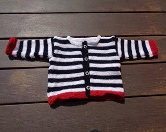 Navy jacket 12 months boy acrylic