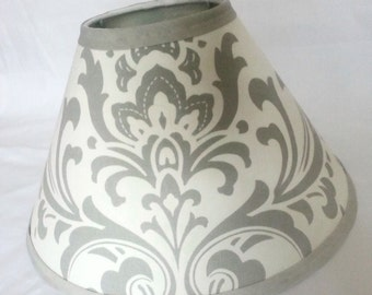 Damask lamp shade etsy damask lamp shade 4 x 11 x 7 in your choice of fabric and trim colors lampshade aloadofball Image collections