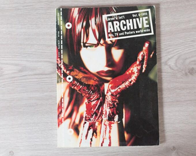 1995 Archive Magazine Volume 6 - Lürzer's International Ad's, TV Posters, and World-Wide - Creative Agency Advertisements Photography Zine
