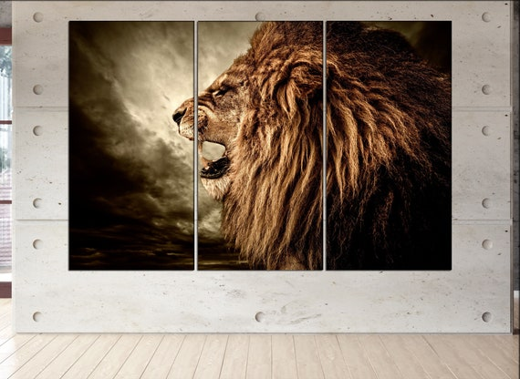 lion  canvas wall art lion wall decoration lion canvas wall art art lion large canvas wall art  wall decor