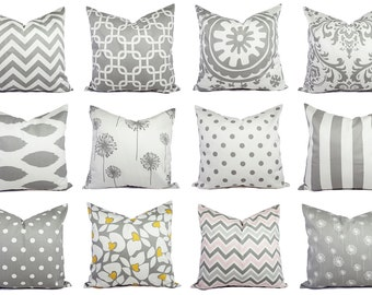 Grey Pillow Covers Grey and White Custom Grey Pillow Covers