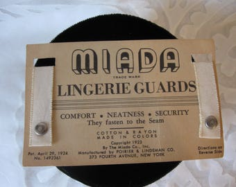 Miada Lingerie Guards  1923  Hold Lingerie Straps in Place  Notions  Sewing  Altering  Collectible Vintage Item  Display  New old Stock