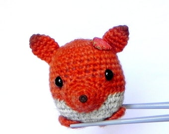 Amigurumi crochet stuffed mini toy doll - Little orange fox MochiQtie