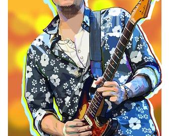 John Mayer / Digital Portrait / Wall Art / Music Print