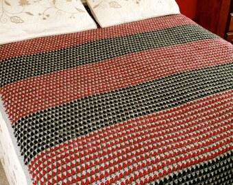 crochet afghan pattern - crochet blanket pdf file crochet quilt Cambric Comforter crochet pattern pdf file