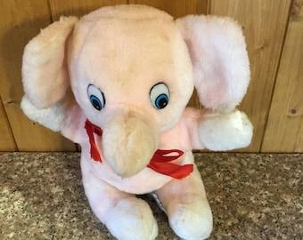 Vintage Stuffed pink Elephant . . .