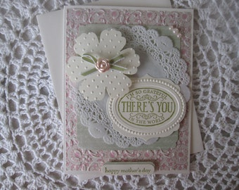 Handmade Greeting Card: Happy Mother's Day (Beautiful Pastels Design)