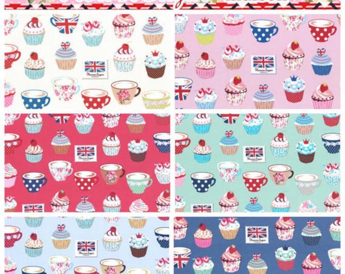 Oxford cotton canvas - Flower Sugar Maison - Lecien Japan - Cupcakes L40565, 1/2 yard of your choice