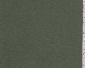 Dark Moss Rayon Jersey Knit, Fabric By The Yard