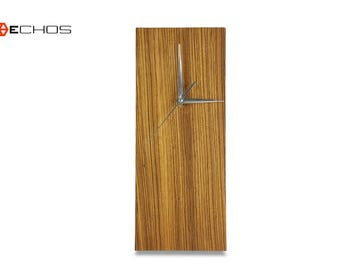 Zebra Wood Wall Clock