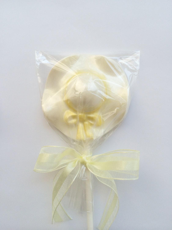 12 Vintage Hat Chocolate Lollipop for Bridal Shower Birthday